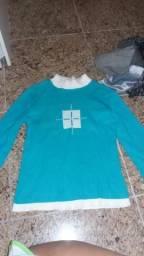 Vendo blusa de frio tricot azul M