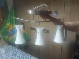 Lustre 3 lâmpadas barbada
