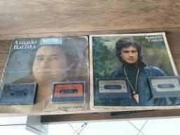 Disco do Roberto Carlos e Amado Batista e fitas cassete