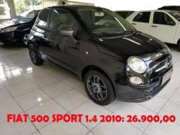 Fiat 500 Sport 1.4 2010 - R$ 26.900,00 - 2010