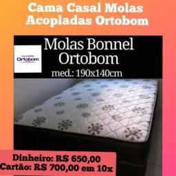Promoçãoooooo de Camaa Casal Ortobomm com Molas Acopladas