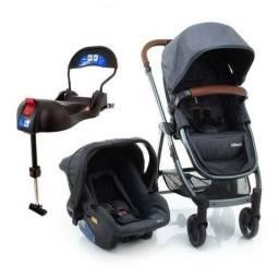 Carrinho infanti epic com moisés e bebê conforto base Isofix para veículo