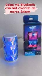 Caixa de som EXBOM via Bluetooth