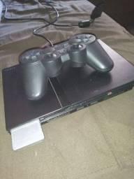 Ps2 desbloqueado + 3 controles + memory card + jogos