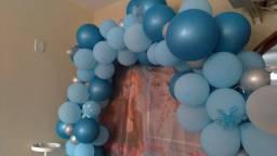 Arco desconstruído balões Frozen