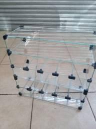 Baleiro expositor de vidro