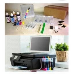 Impressora HP C4680 com entrada para kit bulk Ink