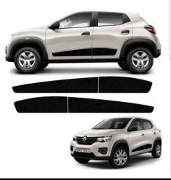 Adesivo faixa lateral Renault Kwid 2018/19/20 Preto