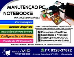 Manutenção PC e Notebooks e Cursos Profissionalizantes