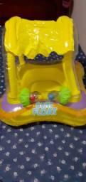 Boia Infantil Baby Float com cobertura