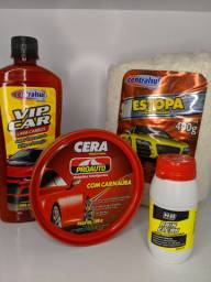 Kit limpeza e polimento para carro