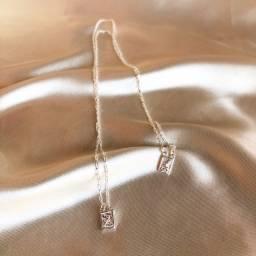 Mini escapulário São Jorge prata pura 925
