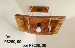 Lustres, luminárias, abajures (rústicos) mesinha de carretel c/ rodinhas
