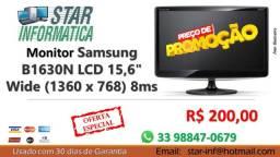 "Monitor Samsung B1630N LCD 15,6"" Wide (1360 x 768) 8ms"