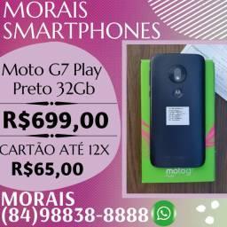 OFERTA- MOTO G7 PLAY 32GB (AZUL) COM NOTA FISCAL