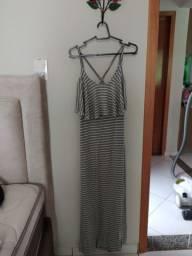 Vestido longo malha