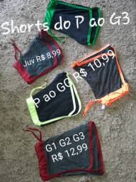 Camisetas, regatas,  shorts do P ao G3