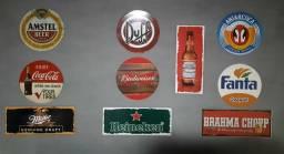 Kit 5 Placas Decorativa Retrô