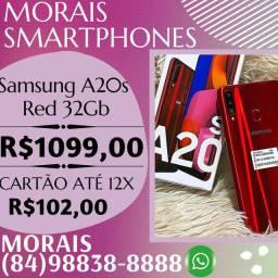 OFERTA - SAMSUNG A20S 32GB (VERMELHO) LACRADO COM NOTA FISCAL