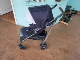 Carrinho Bebê Chicco Liteway Denim + Saco De Dormir Térmico