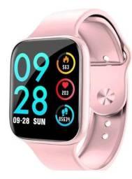 Relógio Smartwatch Sport Bracelet P80 Pro Pulseira Rosa Monitoramento Saúde Novo na Caixa