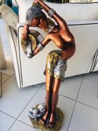 Estatuetas mulheres africanas importado novos