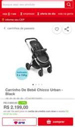 Carrinho de bebê Chicco urban mais dois color pack sendo um bege e outro cinza