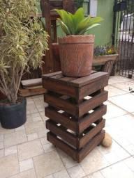 Cachepot de madeira (para decoração) - SOB ENCOMENDA