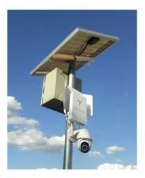 Kit camera de segurança rural / construção 4g solar