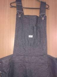 Brechó. Macacão jeans plus size