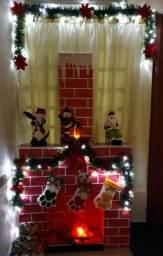 Lareira Decoração para Natal
