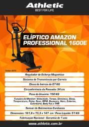 Elíptico modelo profissional linha athletic com vários níveis de treino