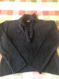 Blusa tricot preta tamanho unico