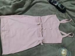 Vestido tubinho rosê