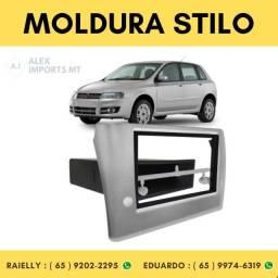 Moldura Fiat Stilo 2003 > 2012 Prata ½din Fiate Estilo Moudura Fiate Modura