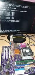 PLACA DDR1 COMPLETA  COM PLACA DE VIDEO 512MB HD DE160 GIGAS