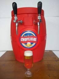 Chopeira a gelo completa com cilindro cheio e kit extração