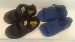 Tênis Nike Star Runner Preto Infantil Masculino + Brinde Sandália Nike Azul