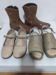 Lote de calçados menina