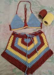 Conjunto crochê M