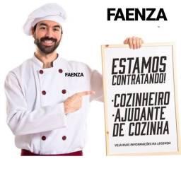 Vaga cozinheiro e (Ajudante cozinha avançado)