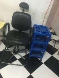 Cadeira barbeiro/cabeleireiro