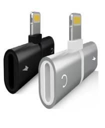 Duplo Jack Adaptador Fone Carregador Lightning iPad iPhone