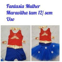 1Fantasia Infantil Mulher Maravilha Tam12 a 14