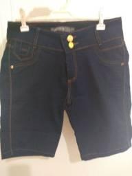 Bermuda jeans feminina Tam 44
