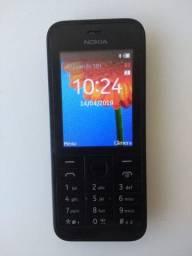 Celular Nokia Modelo 208 na cor preta Acompanha
