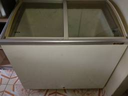 Freezer Tampa de vidro temperado funcionando 100%