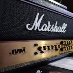 Amplificador Head Cabeçote Marshall Jvm 210 + Foot Deluxe