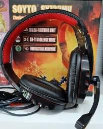 Headset Gamer Estéreo Microfone Super Bass (desconto na retirada).
