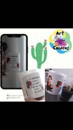 Caneca Cactos - ArtCanecas para vc